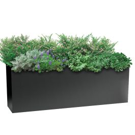 "Planters Perfect 16""H x 10""W x 46""L Rectangular Low Series Rimmed Aluminum Planter"