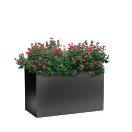 "Planters Perfect 24""H x 20""W x 40""L Rectangular Wide Series Rimmed Aluminum Planter"