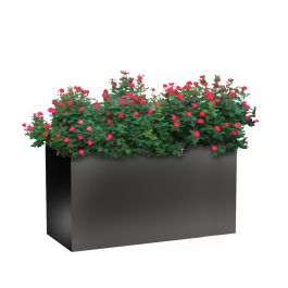 "Planters Perfect 24""H x 20""W x 46""L Rectangular Wide Series Rimmed Aluminum Planter"