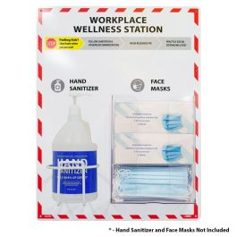 National Marker Company  Workplace Wellness Station - Sanitizer and Face Masks