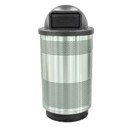 WITT Stadium Series Standard 55 Gallon Stainless Steel Receptacle with Dome Top