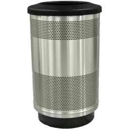 WITT Stadium Series Standard 55 Gallon Stainless Steel Receptacle with Flat Top