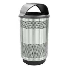 WITT Stadium Series Standard 55 Gallon Stainless Steel Receptacle with Hood Top