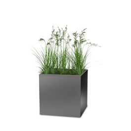 "Planters Perfect 24"" Square Series Rimmed Aluminum Planter"