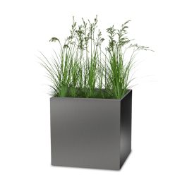 "Planters Perfect 28"" Square Series Rimmed Aluminum Planter"