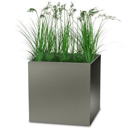 "Planters Perfect 36"" Square Series Rimmed Aluminum Planter"