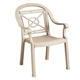 Grosfillex Victoria Stacking Armchair, Case of 4