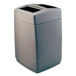 Commercial Zone PolyTec Extra Large Open-Top 55 Gallon Square Waste Container