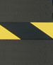 BLACK W/ YELLOW STRIPE