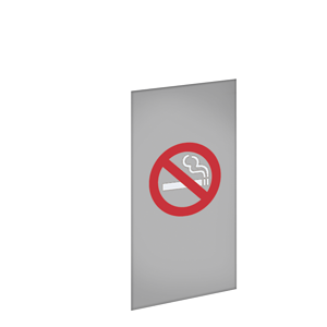 NO SMOKING SYMBOL / GRAY BACKGROUND