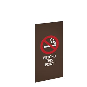 NO SMOKING BEYOND THIS POINT / BRONZE BACKGROUND