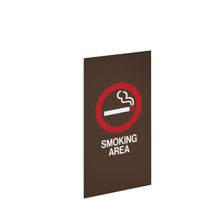 SMOKING AREA / BRONZE BACKGROUND