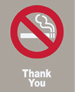 NO SMOKING THANK YOU / GRAY BACKGROUND