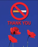 POPPIES NO SMOKING THANK YOU