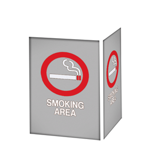 SMOKING AREA / GRAY BACKGROUND
