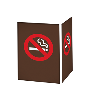 NO SMOKING SYMBOL / BRONZE BACKGROUND