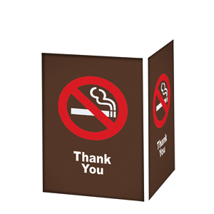 NO SMOKING THANK YOU / BRONZE BACKGROUND