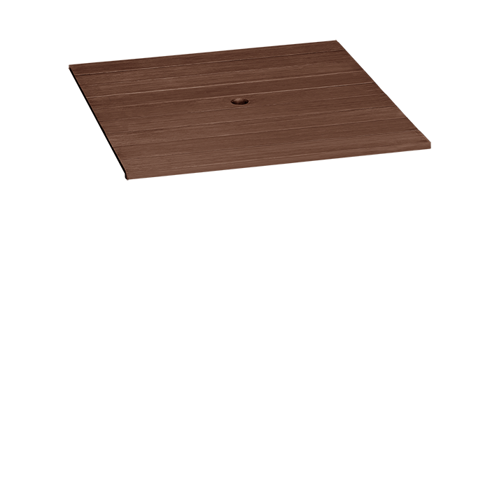 MAHOGANY WITH UMBRELLA HOLE